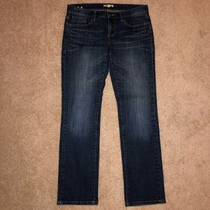 CAbi Straight Leg Dark Wash Jeans Like New EUC